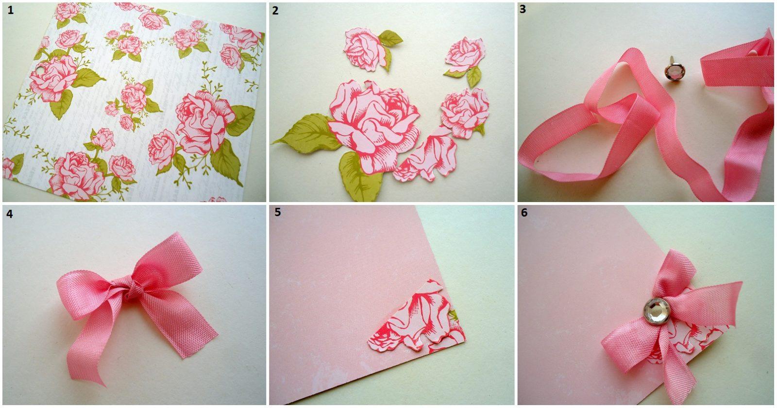 Как сделать цветы для открытки своими руками